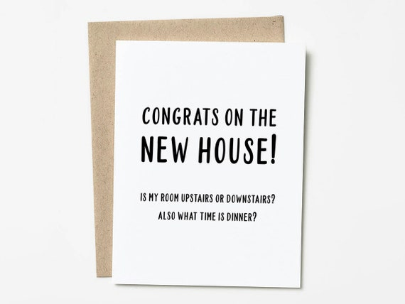 Funny Housewarming Card New Home Housewarming Gift Etsy