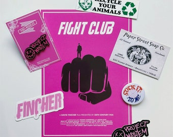 Fight Club - Various Items (Pin Badge, Stickers, Art Print, Business Card, Button Badge)