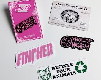 Fight Club - Enamel Pin Badge (Project Mayhem / David Fincher)