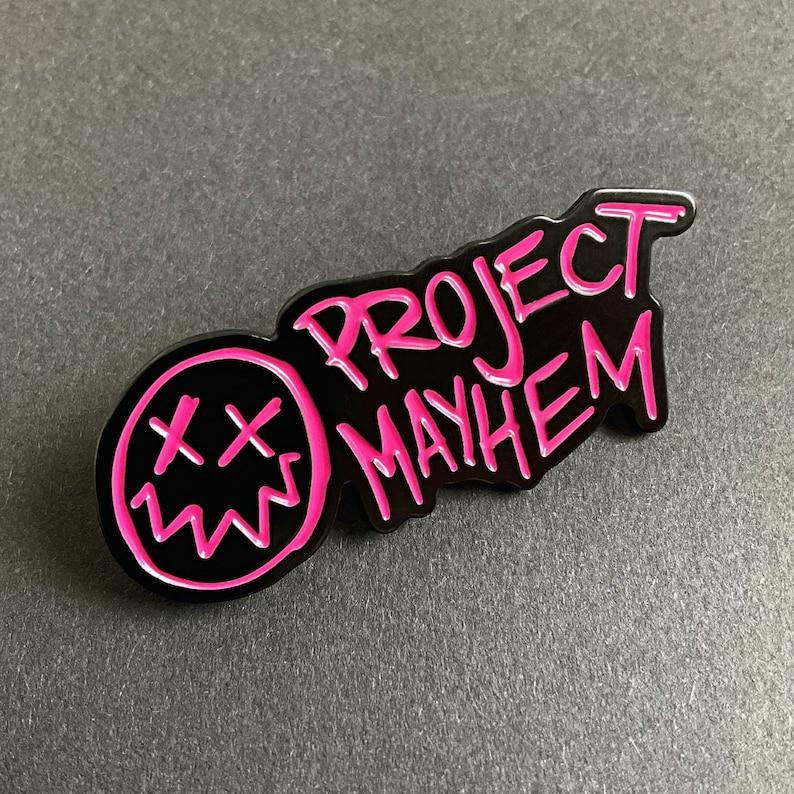 Fight Club  Enamel Pin Badge Project Mayhem / David Fincher image 1