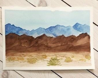 Death Valley Watercolor Print