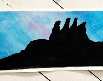 Pinnacle National Park Watercolor Print