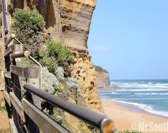 Stairway to Heaven -  Nature, Outdoors, Australia, Great Ocean Road, Water, Landscape, Scenic, Hiking, View, Cliffs, Stairs, Beach