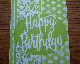 Green Floral Birthday