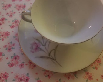 Pink Carnation Flower Tea Set