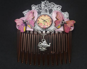 Vintage style side comb/ Hair jewellery