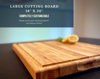 Large Cutting Board, Engraved Cutting Board, Custom order, Personalized Thanksgiving Gift, Customized Christmas Gift