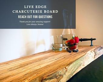 Charcuterie Board, Serving Board, Live Edge Charcuterie Trays, Cheese board