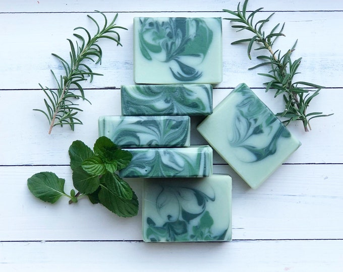 Featured listing image: Rosemary Mint Soap