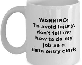 Data Entry Clerk Mug