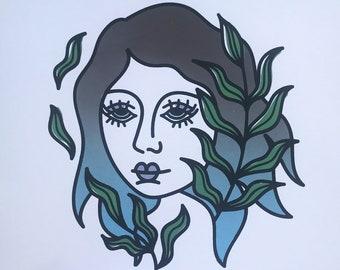 Seaweed Babe Print
