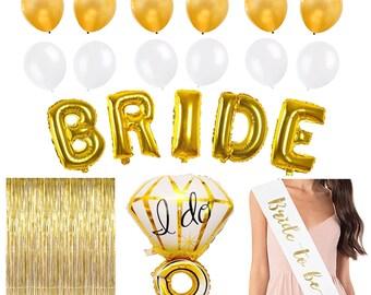 Bachelorette Party Decorations Kit in Gold | Bridal Shower Decorations 20 pcs set!