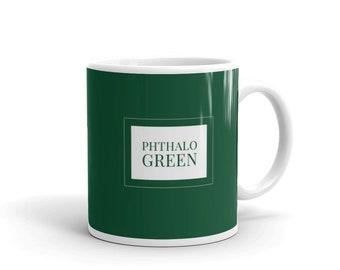 Phthalo Green - Artist Colour Pigment Mug