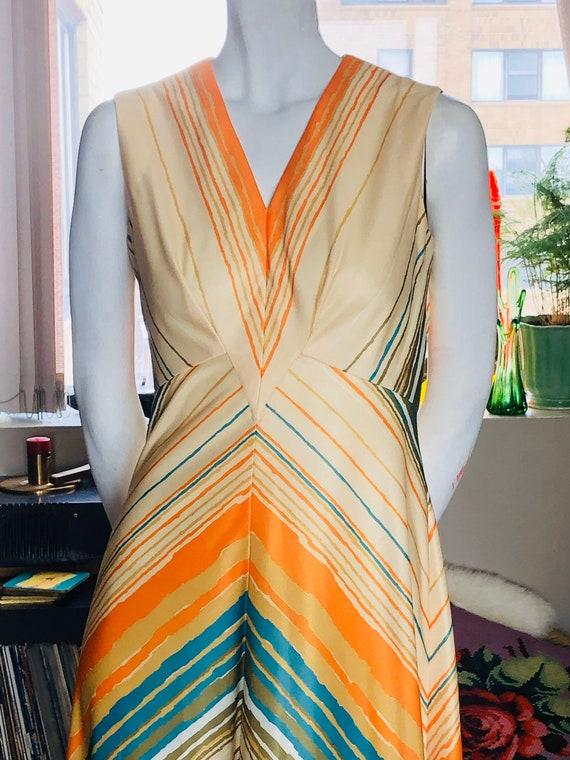 1970s Maxi Dress, Retro Maxi Dress, Retro Dress, S