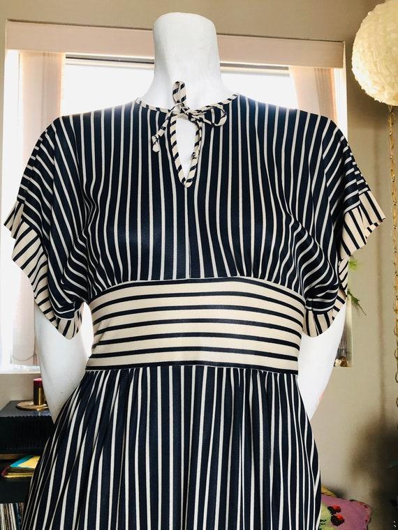 1970s Striped Maxi Dress, Maxi Dress, Black And Be
