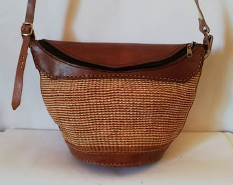 ON SALE African woven handbag 2b71e68689365