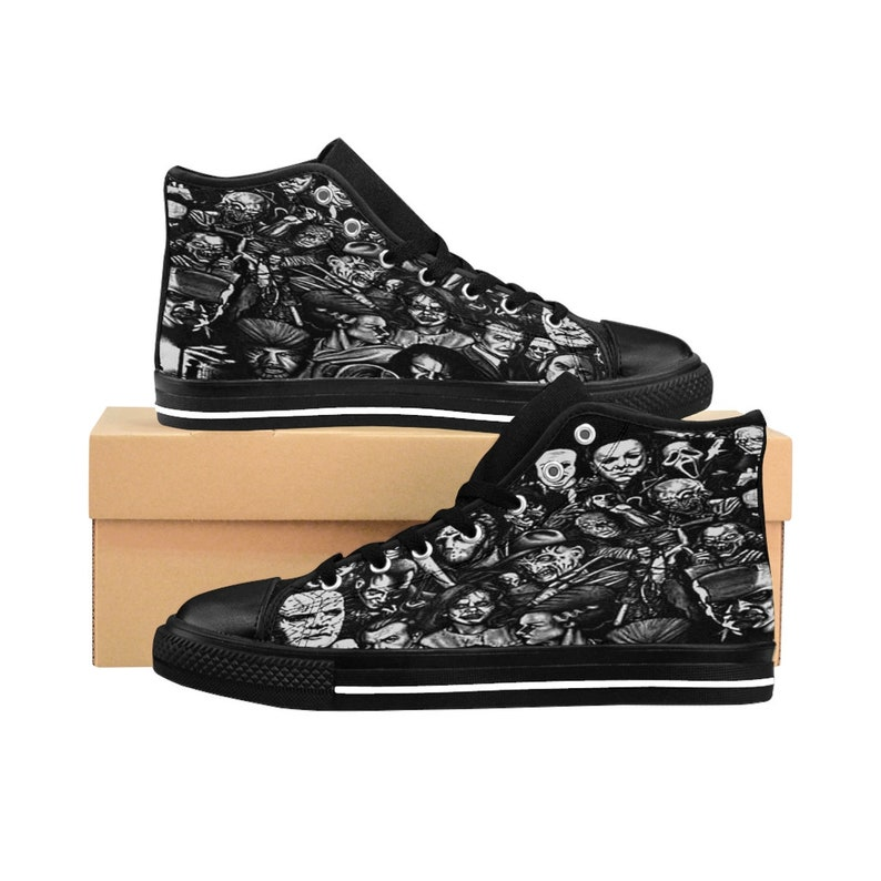 72298d7dbc86f6 Men s Scary Movie Shoes High-Top Horror Film Sneakers