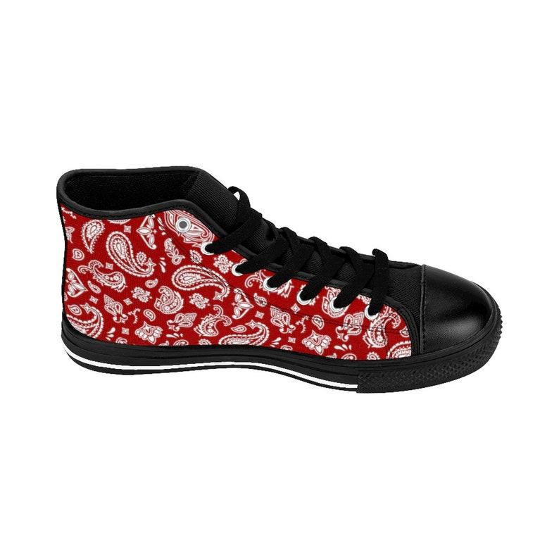 0571f7bb5c54c Men's Red Bandanna Shoes, Men's High-Top Sneakers