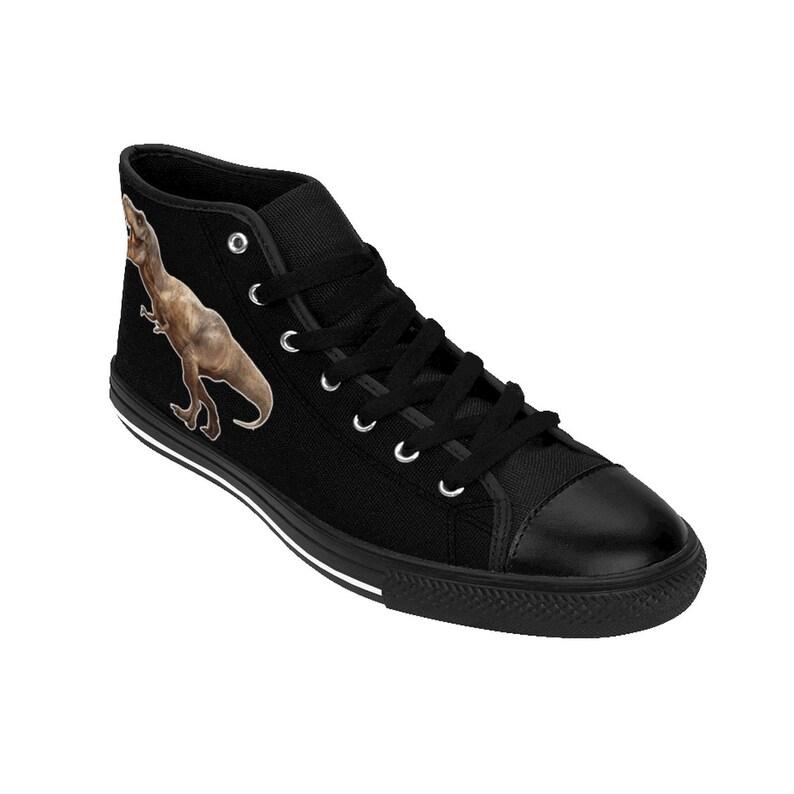 Men/'s T-Rex Shoes Men/'s High-top Sneakers, Men/'s dinosaur Shoes