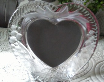 Heart Shaped Glass Picture Frame