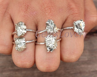 Engagement Women/'s Ring Jewelry Natural Pyrite Gemstone 925 Silver Ring