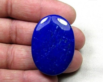 ON SALE 90ct Lapis Lazuli Gemstone Natural, Cabochon Loose Gemstone in Stock 28x39