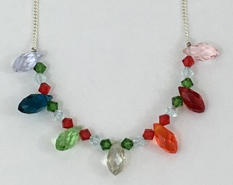 Crystal Dream- A Necklace With Austrian And Swarovski Crystals: Free Shipping, Now On Sale, Great Mother's Day Gift, For Women and Girls