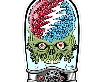 Grateful Dead X Mars Attacks Sticker Classic Red, White, & Blue