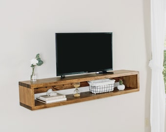 Floating Tv Stand Etsy