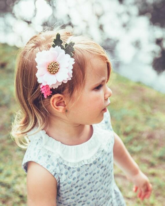 felt flower headband baby nylon headband Flower headband infant headband baby flower headband baby headband black headband