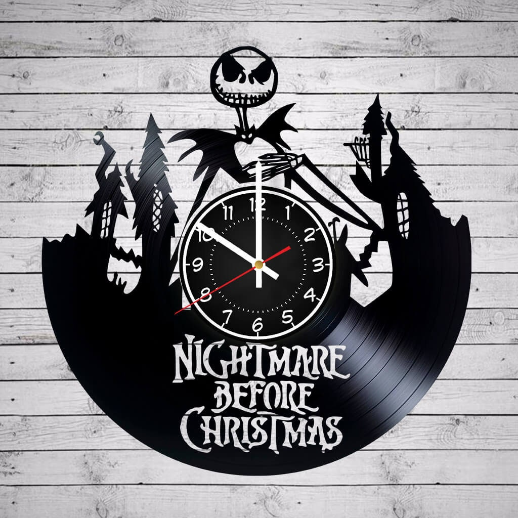 NIGHTMARE BEFORE CHRISTMAS 12 inches/ 30 cm Vinyl Record Wall | Etsy