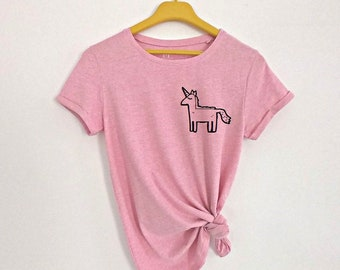 1c5ad818 Cute unicorn shirt, unicorn t-shirt, pocket shirt, cute pocket shirt, tops  and tees, womens shirt, unicorn tee, cute t-shirt