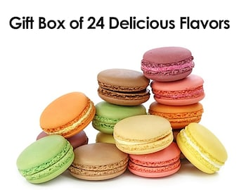 French Macarons - Mixed Box of 24 Assorted Flavors