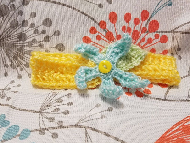 Star flower baby headband
