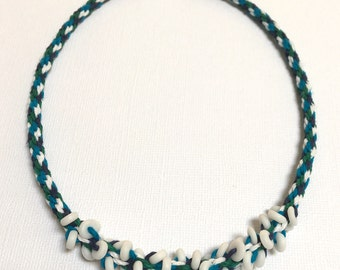 Kumihimo Necklace with Beads