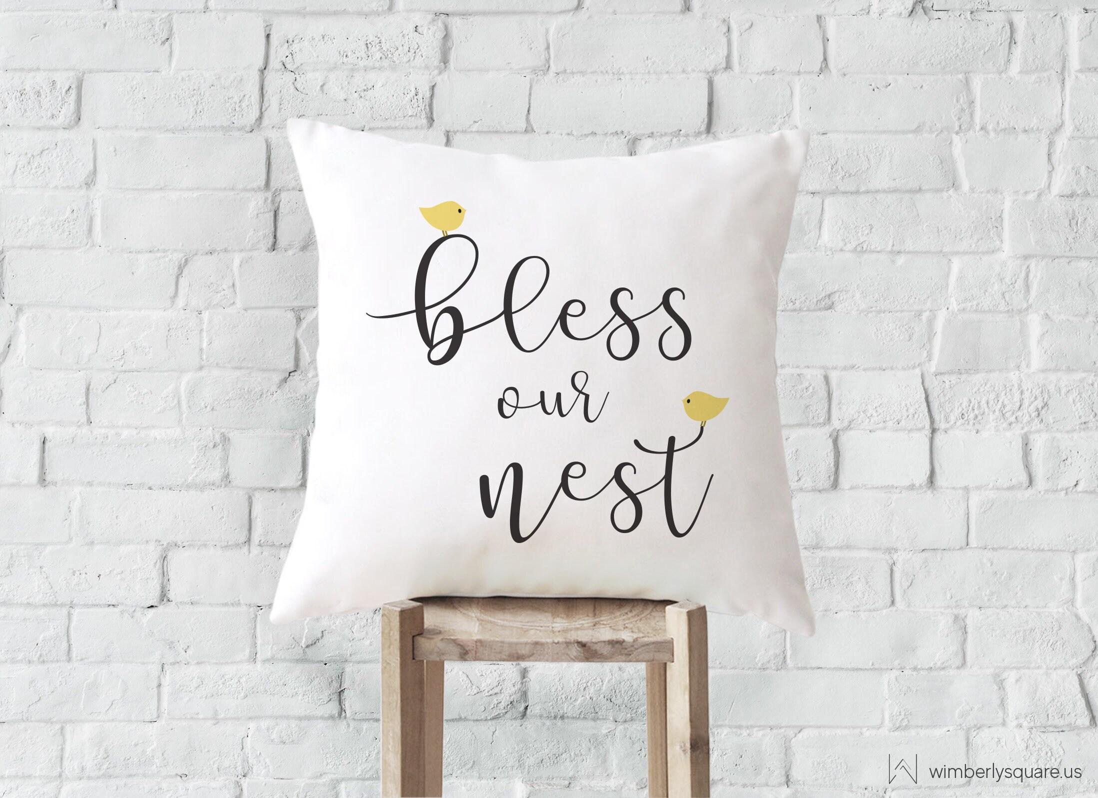 Bless Our Nest Decorative Throw Pillow Custom Printed Pillow  3288d2165
