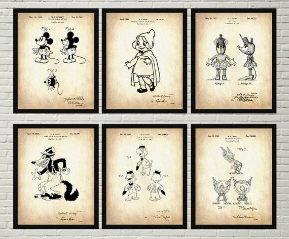 DISNEY ART PRINT Mickey and Minnie Cool Walt Disney