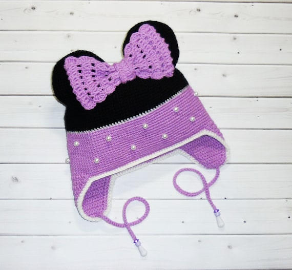 Crochet mouse hat Merino wool hat Baby girl hat Kids winter hat Toddler  girl hat Wool scarf Baby girls scarf Baby wool snood Perfect gift