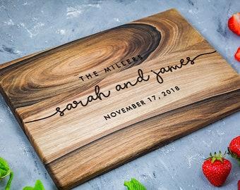 Personalized cutting board, Custom Cutting Board, Personalized Wedding Gift, Engraved Board, Bridal shower gift