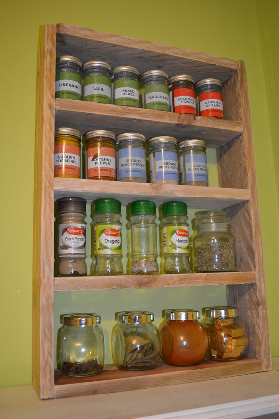 Hand-Made Rustic Spice Rack Stores 14