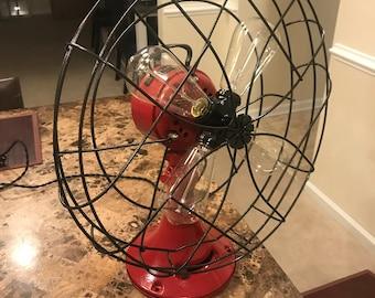 1930's Emerson metal fan lamp