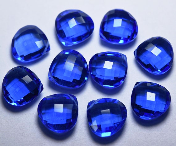 3 Match Pare Faceted Drops Size 35x8mm Side Drilled Swiss Blue Quartz
