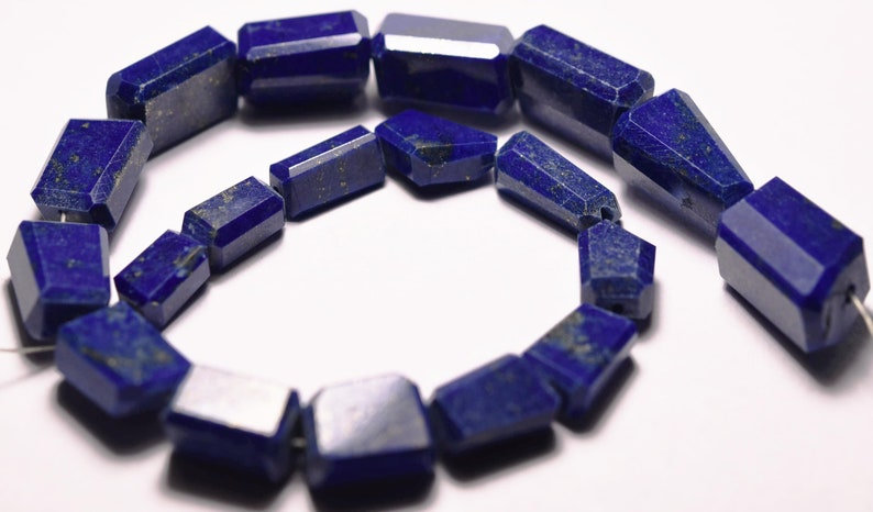 110 Carats Size 8mm To 15mm 8.5 Inches Strand 19 Beads Lapis Lazuli Full Drilled Faceted Nuggets
