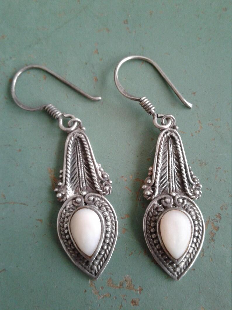 692e1294a Vintage BOMA Sterling Silver Pierced Dangle Drop Earrings   Etsy