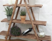 3 Tier Wooden Ladder Shelf