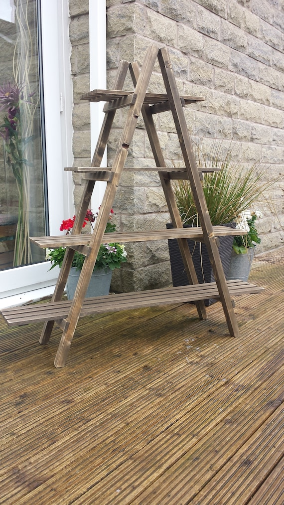 sale retailer 1ee7c fffb2 4 Tier Wooden Ladder Shelf