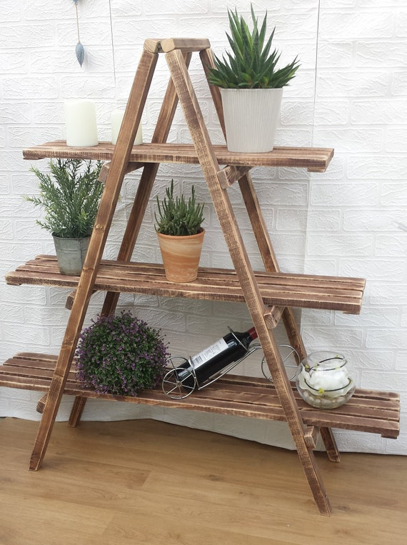 the latest f7ce5 ea980 3 Tier Wooden Ladder Shelf