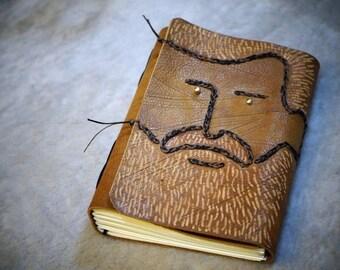 Handmade journal, leather journal