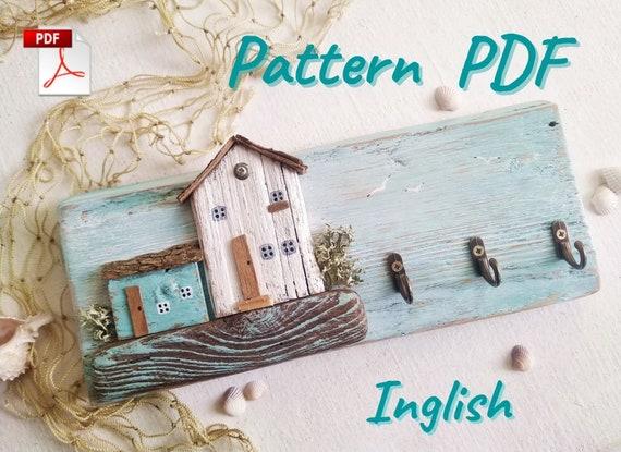 Key holder for wall Pattern PDF  Wood Houses  Key Hanger