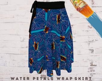 Boho Skirt Art Wear Abstract Clothing Wearable Art Colorful Skirt Casual Clothing Dress Skirt Flower Skirt Skirt for Women